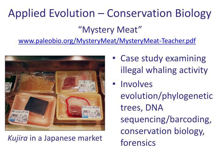 Applied Evolution – Conservation Biology