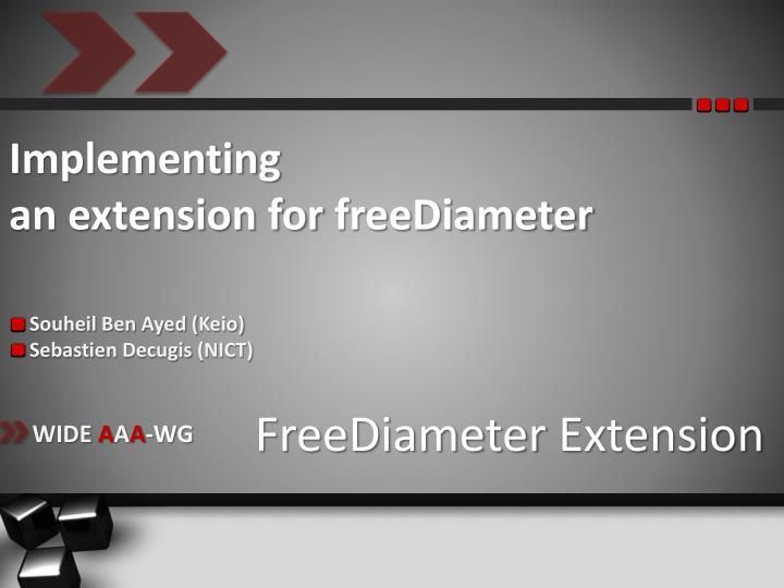 implementing an extension for freediameter n.