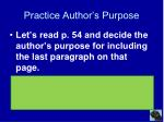 practice author s purpose