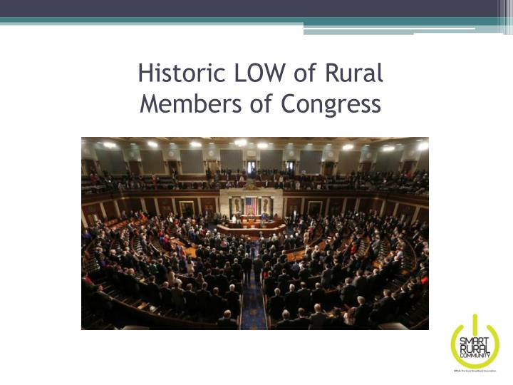 Historic LOW of Rural