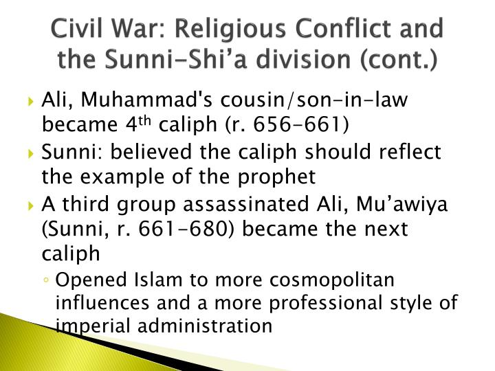 a look at the sunni and shi i form of islamic religion