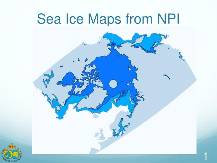 sea ice maps from npi n.