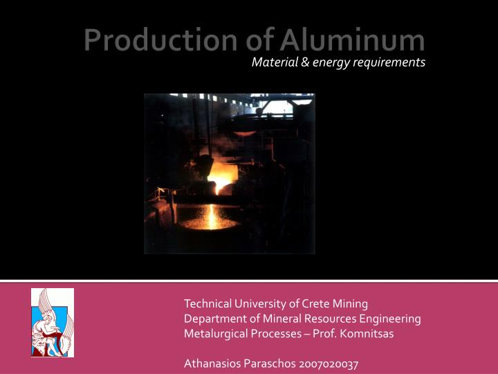 material energy requirements n.