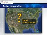 active geolocation