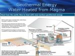 geothermal energy water heated from magma