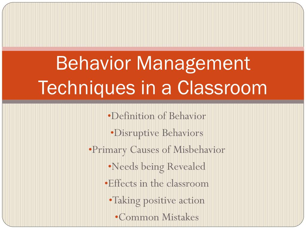 ppt - behavior management techniques in a classroom powerpoint
