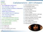 collaborators 2011 present