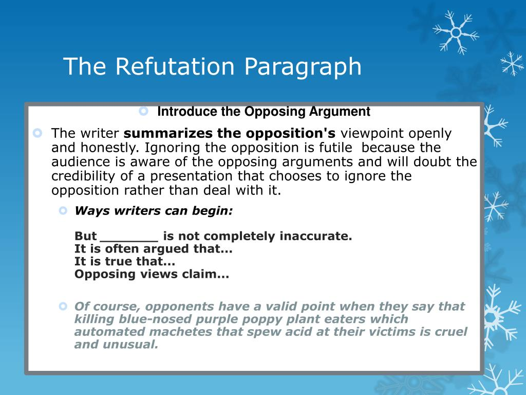 Refutation essay topics