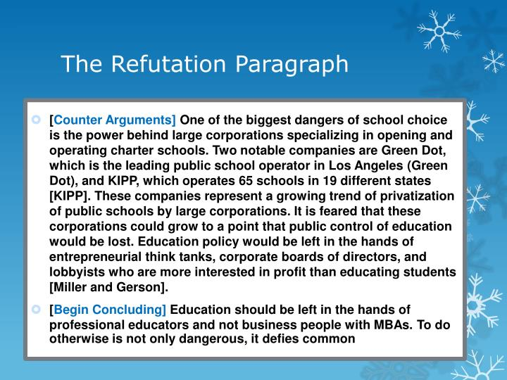 how to write a refutation in an argumentative essay