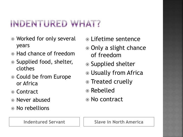 Indentured what?