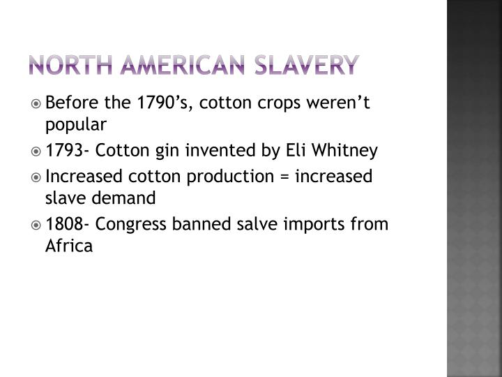 North american slavery