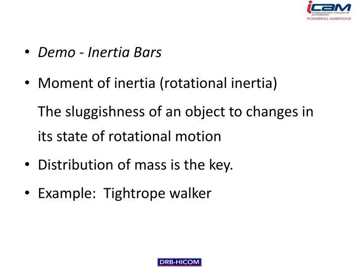Demo - Inertia Bars