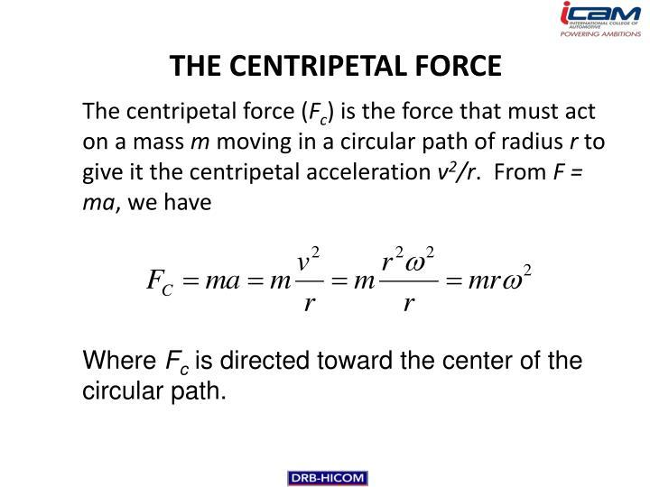 THE CENTRIPETAL FORCE