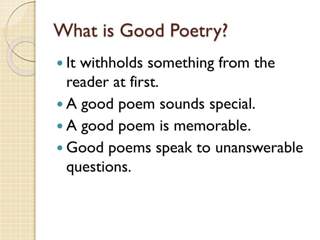 PPT - Poetry PowerPoint Presentation - ID:2300421