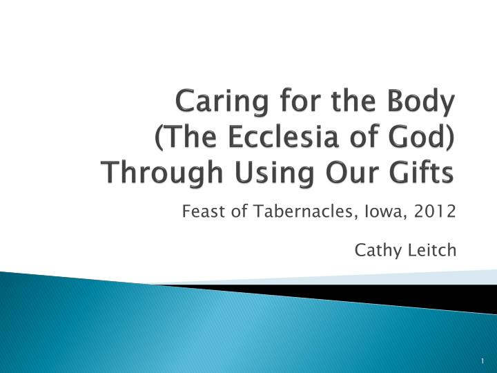 Caring for the body the ecclesia of god through using our gifts