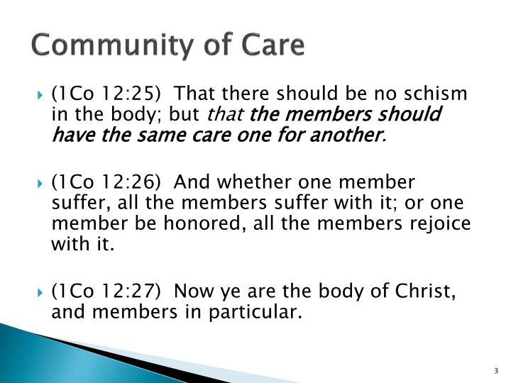 Community of care