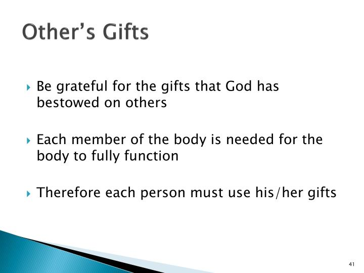 Other's Gifts