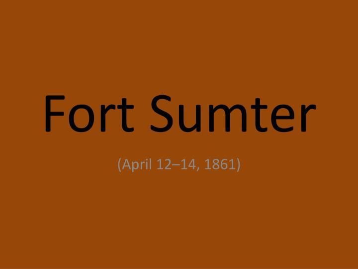 fort sumter n.