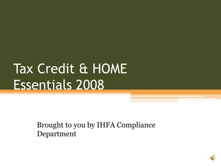 tax credit home essentials 2008 n.