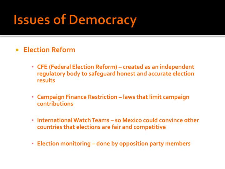 Issues of Democracy