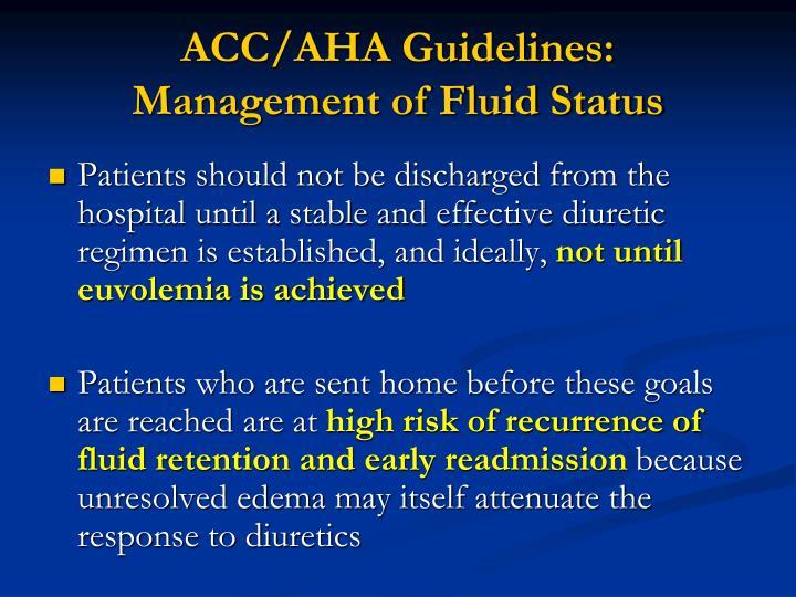 ACC/AHA Guidelines: