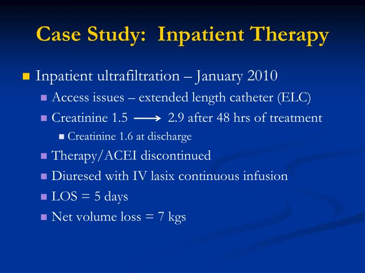 Case Study:  Inpatient Therapy