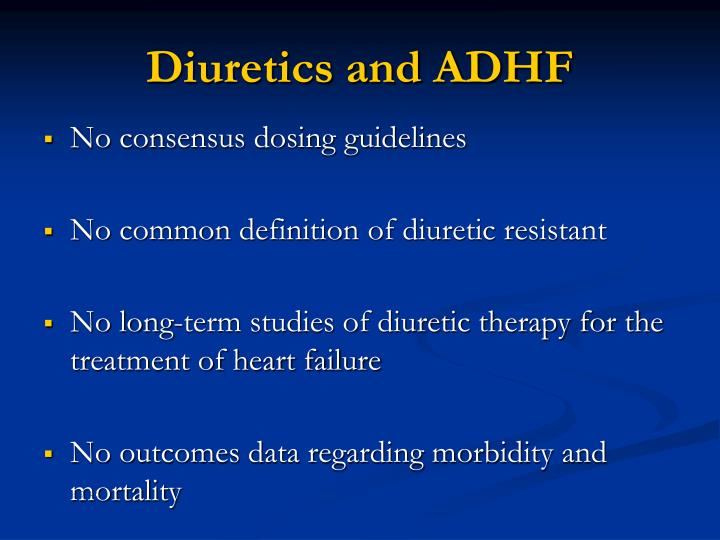 Diuretics and ADHF