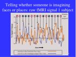 telling whether someone is imagining faces or places raw fmri signal 1 subject