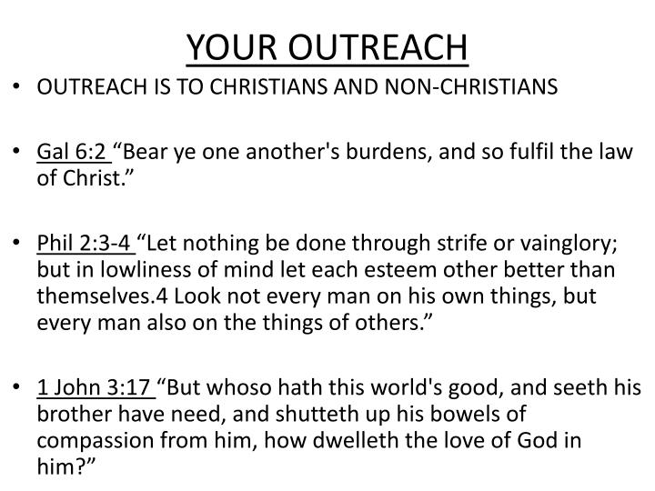 YOUR OUTREACH