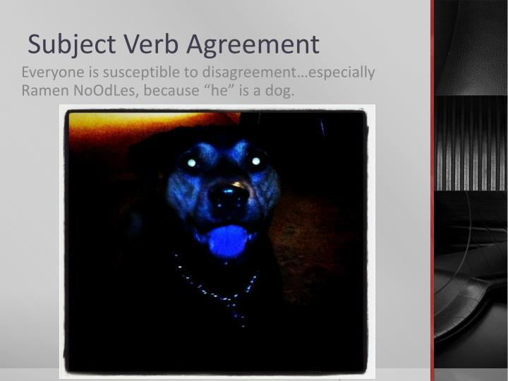 Ppt Subject Verb Agreement Powerpoint Presentation Id2301784
