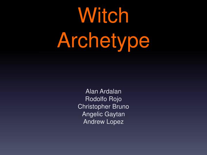 witch archetype n.