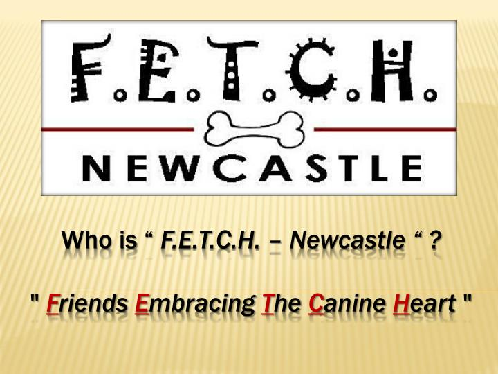 who is f e t c h newcastle f riends e mbracing t he c anine h eart n.