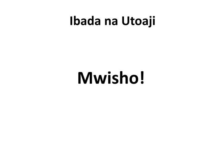 Ibada na Utoaji