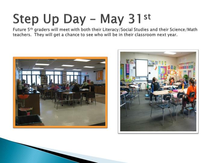 Step Up Day – May 31