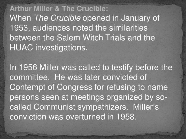 the true meaning of freedom in the crucible a play by arthur miller Arthur miller gives us valuable information about abigail's character when he says in a stage direction that she has a great capacity for lying betty is likely to be in a trancelike state because.