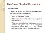 five forces model of competition7