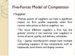 five forces model of competition8