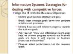 information systems strategies for dealing with competitive forces1
