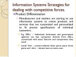 information systems strategies for dealing with competitive forces5