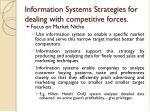 information systems strategies for dealing with competitive forces6