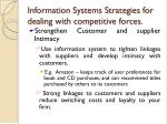 information systems strategies for dealing with competitive forces7