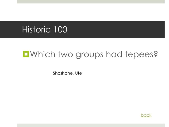 Historic 100