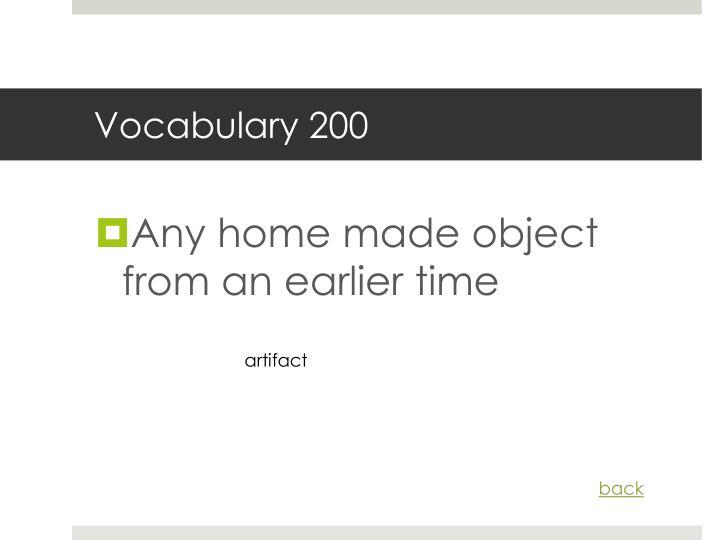 Vocabulary 200