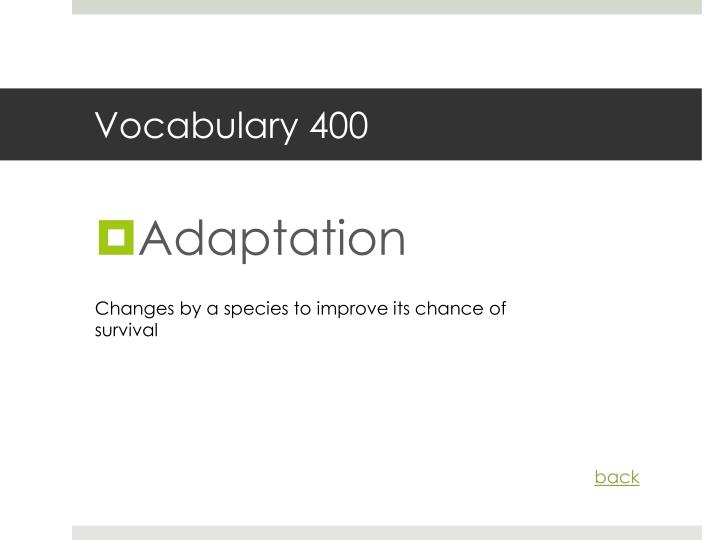 Vocabulary 400