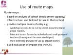 use of route maps