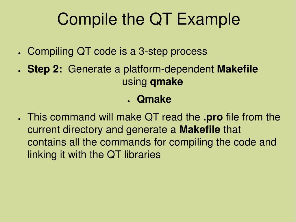 Using Qmake