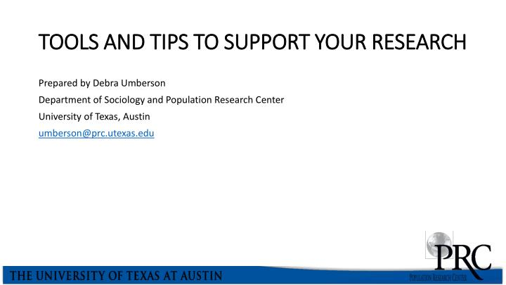 tools and tips to support your research n.