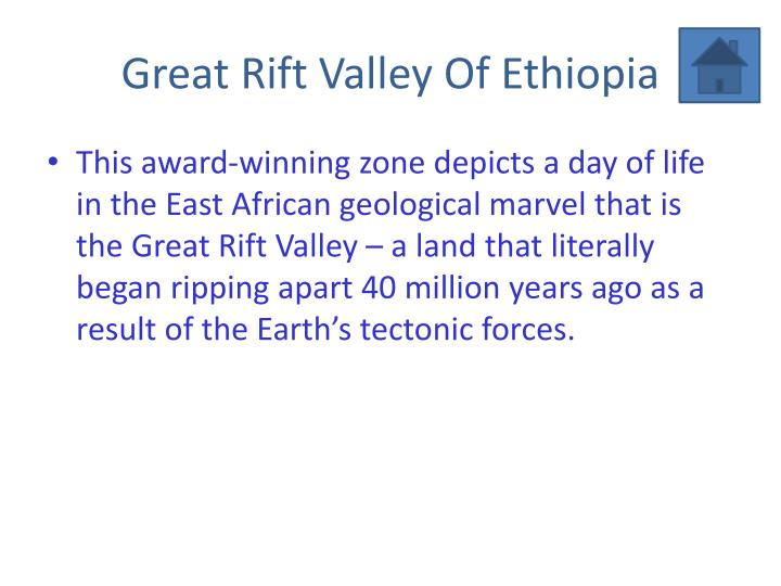 Great Rift Valley Of Ethiopia
