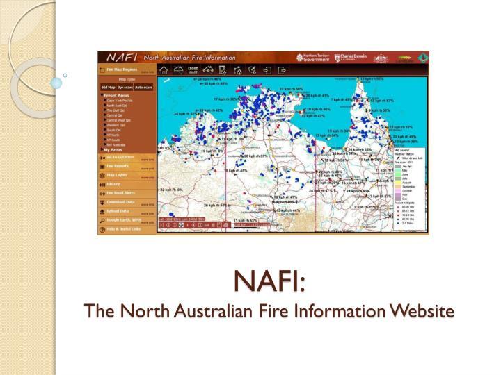 Nafi the north australian fire information website