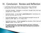 iv conclusion review and reflection